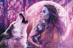 Harvest Moon - Fairy & Wolf Purple Haze - H - Maxi Paper Poster