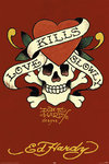 Ed Hardy  - Love Kills Slowly Red - Maxi Paper Poster