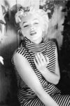 Marilyn Monroe Striped Top 1954 Maxi Paper Poster
