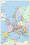 Europe - Map in GERMAN Language - Maxi Paper Poster