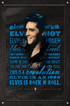 Elvis Presley Rock n Roll 'blue writing' Maxi Paper Poster