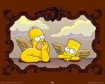 Simpson's - Homer and Bart Angels - Mini Paper Poster