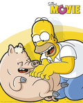 Simpson's - The Movie - Homer, Piggy Tickle - Mini Paper Poster