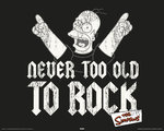 Simpson's - Homer - Never too Old to Rock - Mini Paper Poster