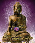 Buddha - Purple - Mini Paper Poster