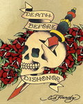 Ed Hardy - Death Before Dishonor - Mini Paper Poster