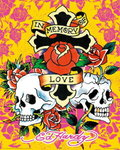 Ed Hardy - In Memory of Love - Mini Paper Poster