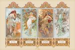 Mucha Four Seasons - Giant Paper Poster