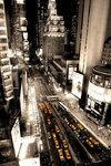 New York Aerial View Yellow Taxis - Giant Paper Poster