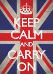 Keep Calm Carry On - Giant Paper Poster