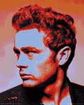 James Dean, Pop Art - Mini Paper Poster