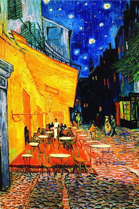 Van Gogh Terrace De Cafe - Giant Paper Poster - Camden Town Poster ...