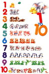 Animal Numbers 1 to 10 Maxi Paper Poster