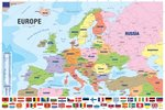 Modern Map Of Europe - Maxi Paper Poster