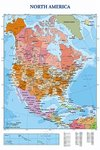 Modern Map Of North America - Maxi Paper Poster