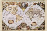 Map - Vintage Orbis Geographica - Maxi Paper Poster