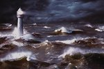 South Africa, Lighthouse and Waves - Maxi Paper Poster
