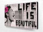 Blockmounted - Banksy - Life is Beautiful - Mini Poster