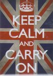 Keep Calm and Carry On - Union Jack - Maxi Paper Poster