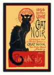 Black Framed - Chat Noir - Black Cat - French Art - Maxi Poster