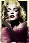 Marilyn Monroe - Art Deco Feathers - Maxi Paper Poster