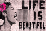 Black Framed - Life Is Beautiful Maxi Poster