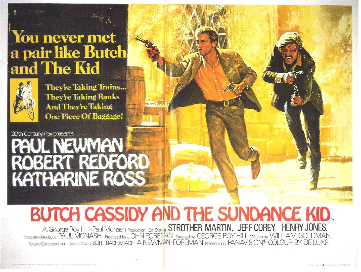 Butch Cassidy and the Sundance Kid - Vintage Paper Poster - Camden Town  Poster Company