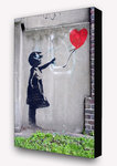 Banksy - Balloon Girl Vertical Block Mount