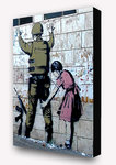 Banksy - Girl Searching Soldier Vertical Block Mount
