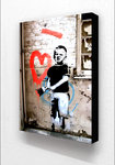 Banksy - Boy With Painted Heart Block Mount