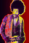 Jimi Hendrix Psychedelic Maxi Poster
