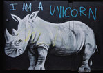 "Rhino ""I Am A Unicorn"" - Small Paper Poster"