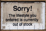 Banksy - Sorry! The lifestyle you ordered is currently out of stock - Mini Paper  Poster
