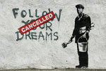 Banksy - Follow Your Dreams Cancelled - Mini Paper  Poster