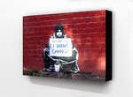 Banksy - Beggar I want Change Block Mount