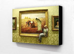 Banksy - Cigarette Break Art Painting Block Mount