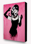 Banksy - Audrey Hepburn Cat Attack Block Mount