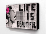 Banksy -  Life Is Beautiful Billie Holiday Block Mount