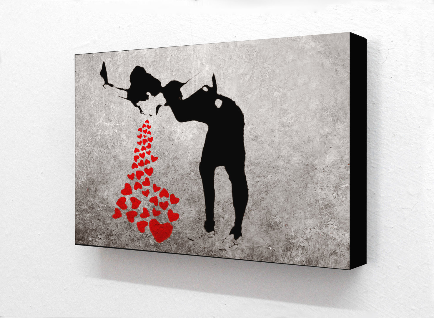 Banksy - Sick Girl Butterflies Horizontal Block Mounted Print