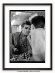 Framed with WHITE mount The Smiths - Morrissey Mirror Norwich 1984 Poster