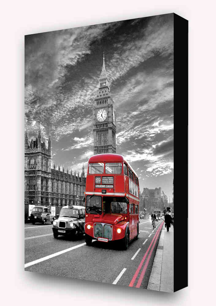 london red bus routemaster 2 tone vertical block mount camden
