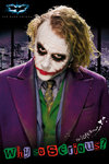 Laminated - Batman Dark Knight Joker Serious Maxi Poster