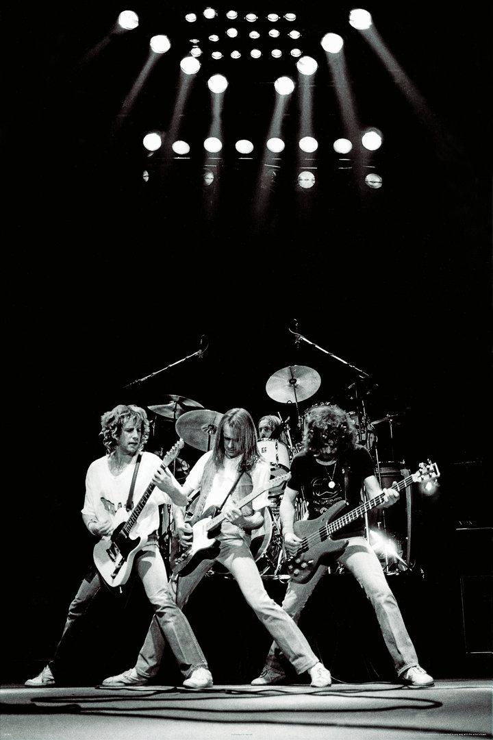 Status Quo Live In Glasgow 1981 Maxi Paper Poster Camden
