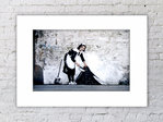 Banksy Camden Maid Sweeper Mounted Print