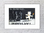 Banksy Mild Mild West Mounted Print