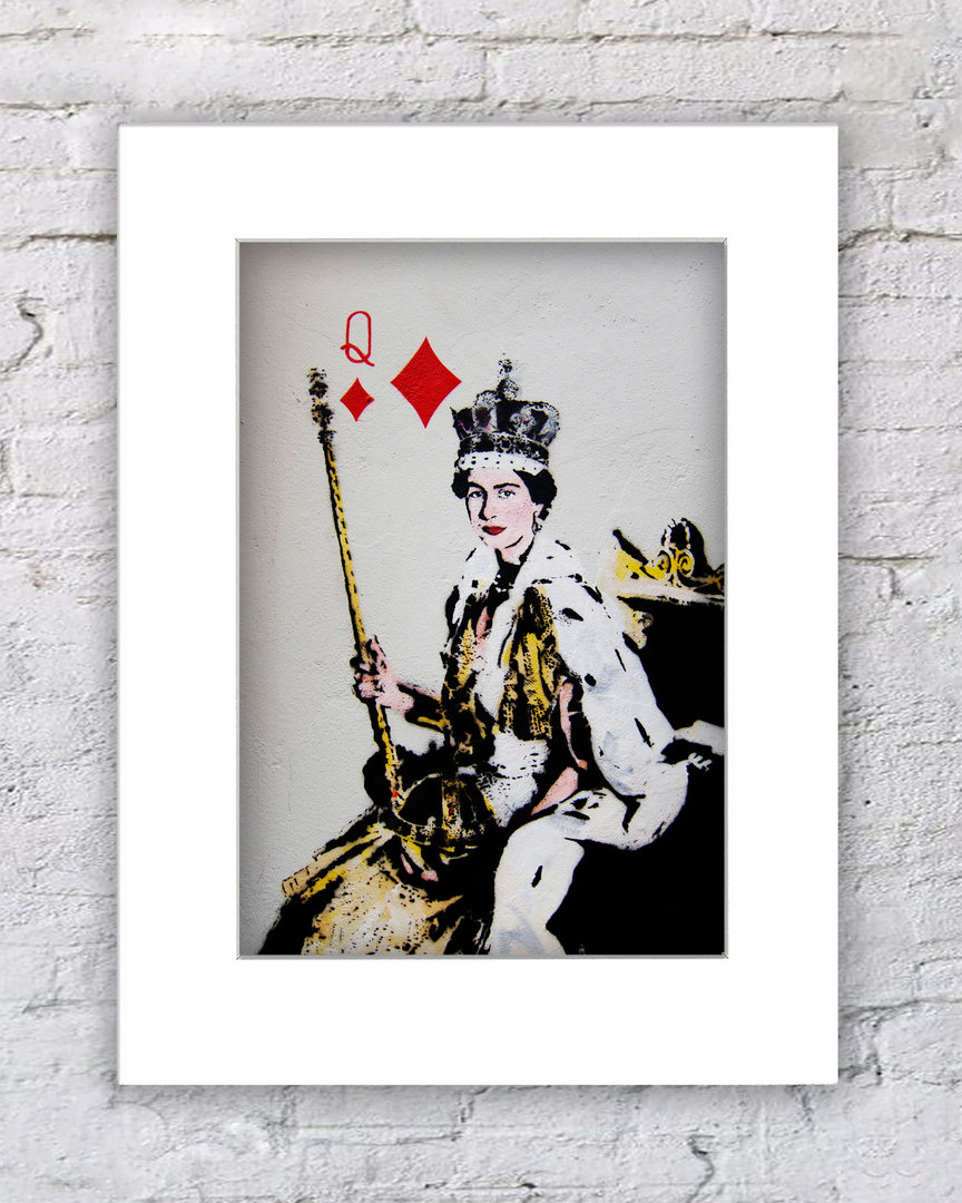 Banksy The Queen Of Diamonds