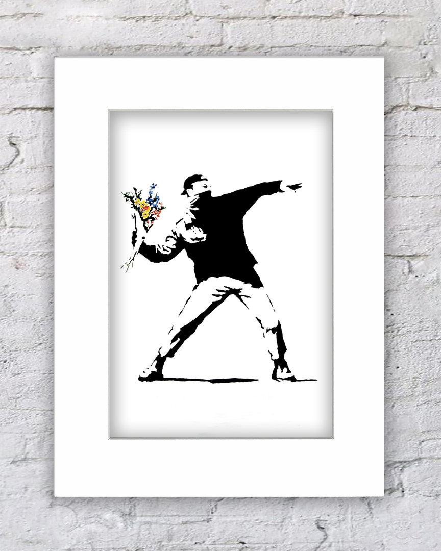 Banksy Flower Chucker V