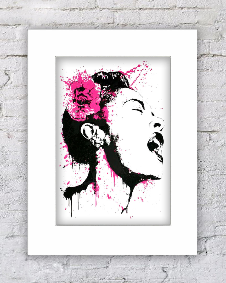 Banksy Billie Holiday Pink Rose