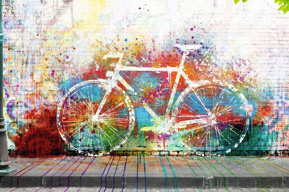 bike graffitti art maxi paper poster camden town poster company