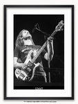 Framed with WHITE mount Lemmy - Motorhead - Poster